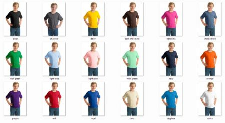 Gildan gyerek pólók fiú/lány