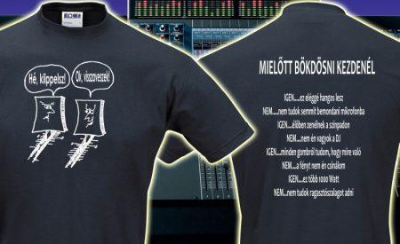 hangtechnikus póló