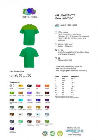 Fruit of the Loom Valueweight T