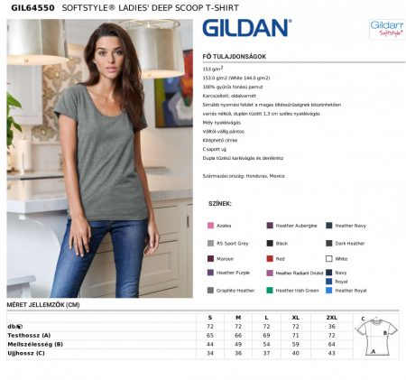GIL64550 - SOFTSTYLE® LADIES' DEEP SCOOP T-SHIRT